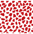 Seamless pattern of parts of rose petals vector