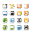 Simple home and office equipment icons vector