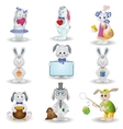 Set toy rabbits vector