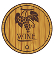 Wooden barrel for wine vector