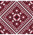 Traditional slavic black and red stitch vector