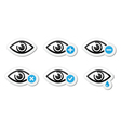 Eye sight icons set - vector