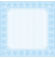 Square blue background with decorative ornaments vector