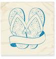 Flip flop and banner doodle vector