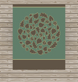 Dark card made of circle with autumn leaves vector