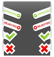 Left and right side signs - approved rejected vector