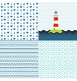 Sea patterns set vector