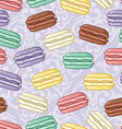 Seamless cute retro colored macarons pattern vector