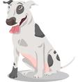 Bull terrier dog cartoon vector