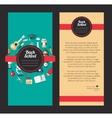 School flat design flyer templates vector