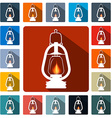 Flat design gas lamps icon set vector