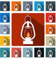 Flat design gas lamps icon set vector