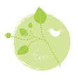 Eco label with leaves vector