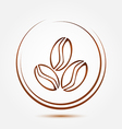 Brown coffee beans symbol vector