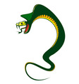 Danger green cobra vector