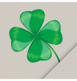 Clover leaf on the paper vector