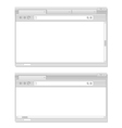 Web browser windows template vector