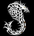 Snake cobra girl in the form of a tribal tattoo vector