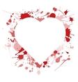 Ink heart vector