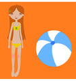 Funny summer background vector