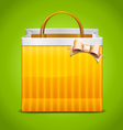 Shopping bag icon with bow vector