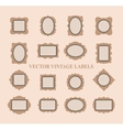 Set of vintage frames and design elements - vector