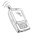Old school mobile phone icon vector