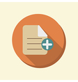 Flat circle web icon page of the document vector