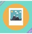 Landscape photo icon - vector