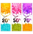 Triangle sale banners with doodles vector