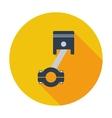 Piston single icon vector