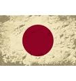 Japanese flag grunge background vector