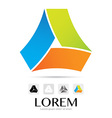 Abstract colorful logo design element vector