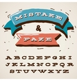 Funny alphabet letters in retro style vector