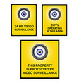 Video surveillance camera sign part 2 vector