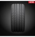 Dark background realistic rubber tire symbol vector