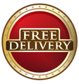 Free delivery emblem vector
