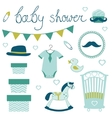 Little man baby shower vector