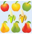 Apples pears bananas vector