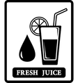 Juice icon with drop and glass vector