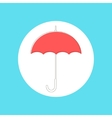 Red umbrella in stroke-style vector