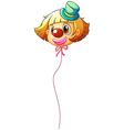 A female clown balloon vector