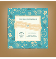 Wedding invitation dark blue vector