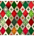 Celtic pattern with rhombuses vector