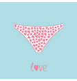 White womens underwear panties with hearts love vector