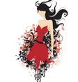 Fashion floral grunge vector