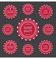 Red bages in retro style vector