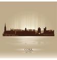Cork ireland skyline city silhouette vector