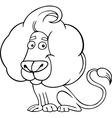 Zodiac leo or lion coloring page vector