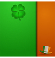 St patricks day leather background vector